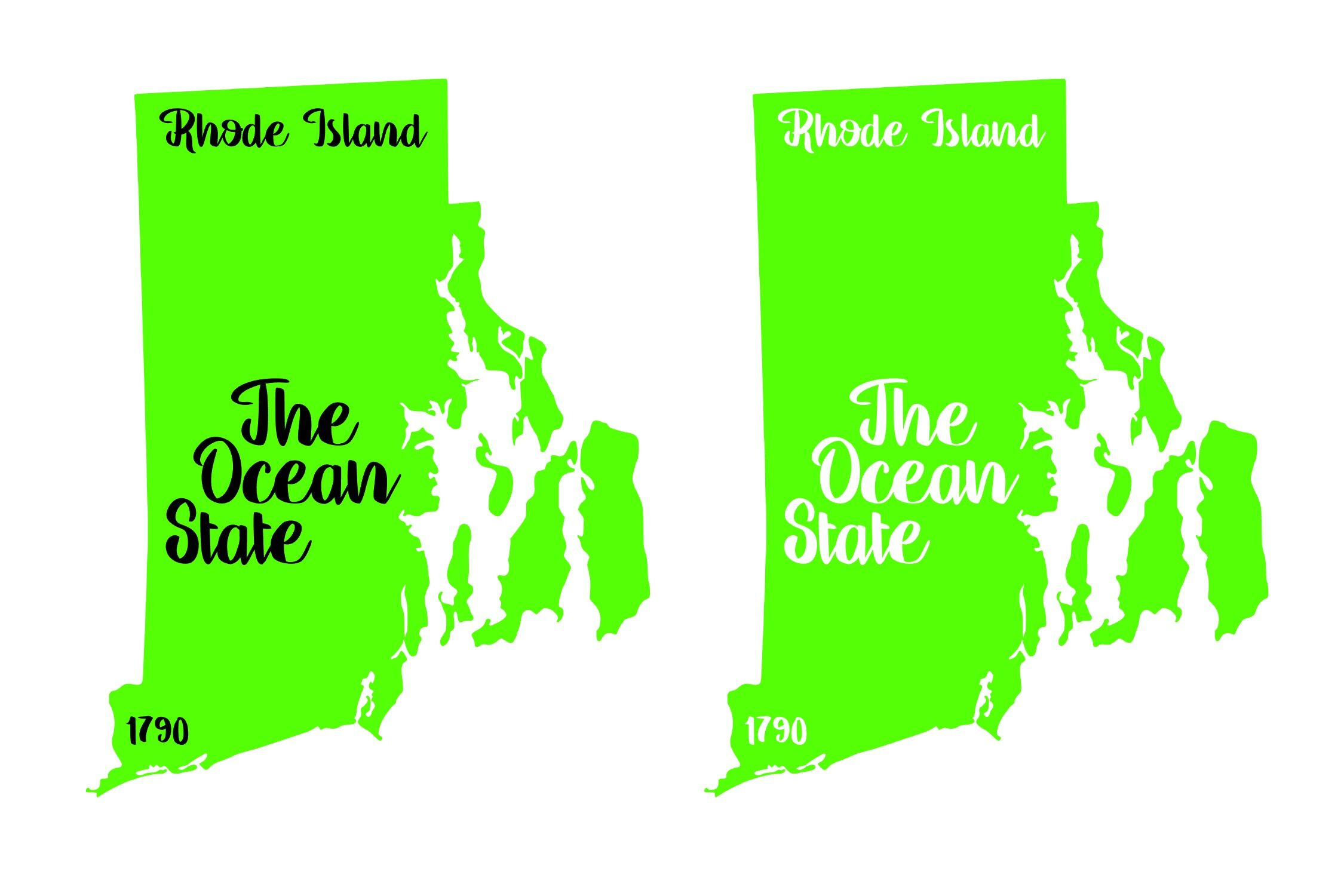 Rhode Island State Nickname Est Year 2 Files Svg Png Eps