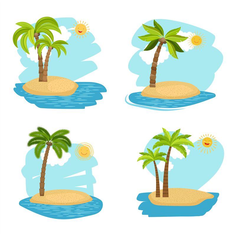 Holiday Design Coconut Palm Trees Islands By Smartstartstocker