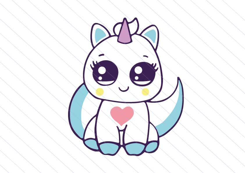 Unicorn Cat Svg Kitty Vector Clipart Kawaii Cat Svg By Betta