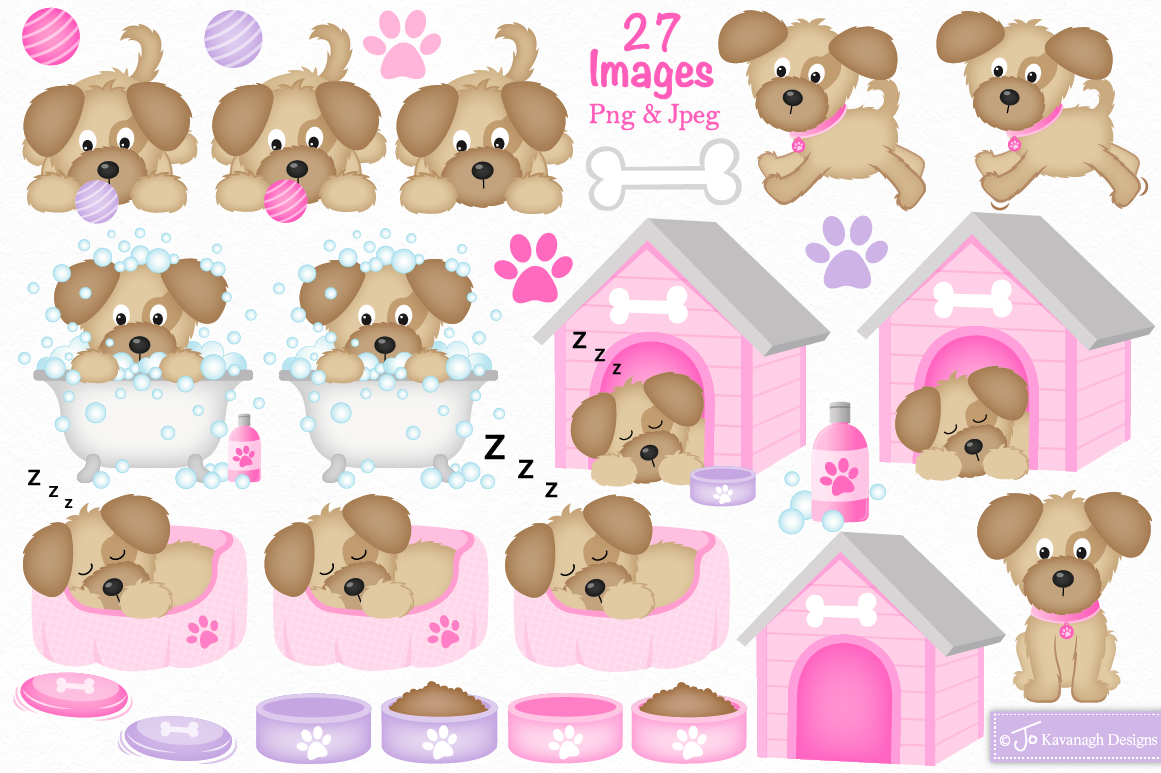 Cute Dog clipart, Dog graphics -C36 By Jo Kavanagh Designs ... (1161 x 773 Pixel)