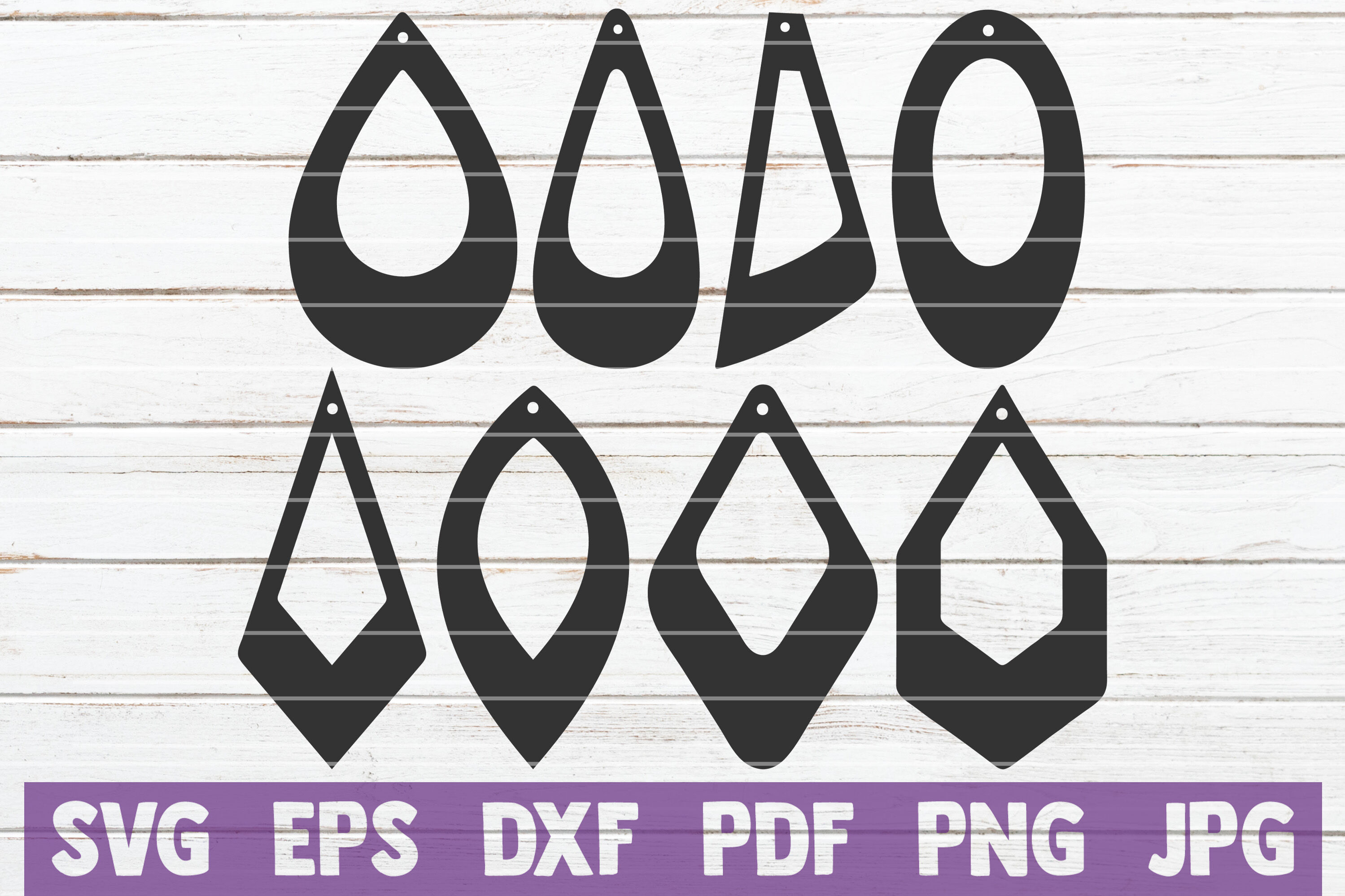 Earring Svg Cut File Templates By Mintymarshmallows