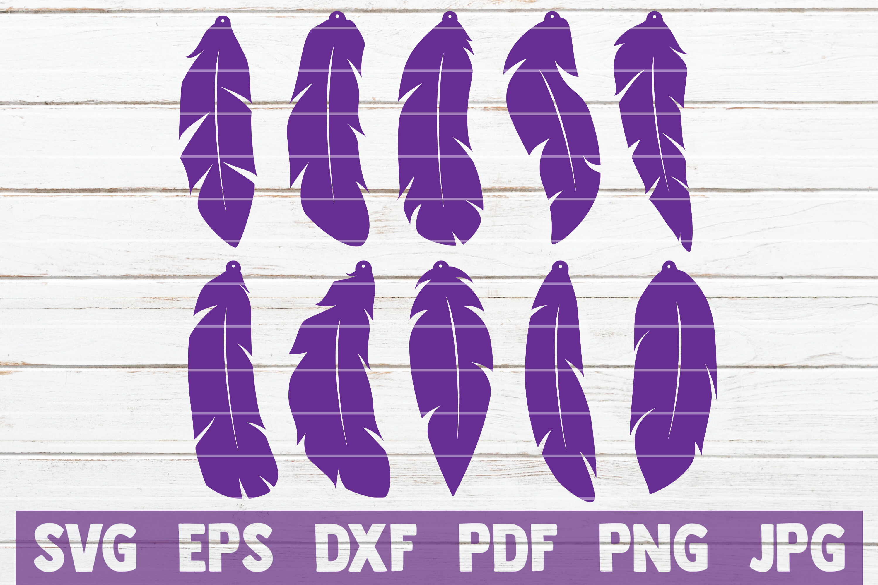 Feather Earrings Svg Cut File Templates By Mintymarshmallows