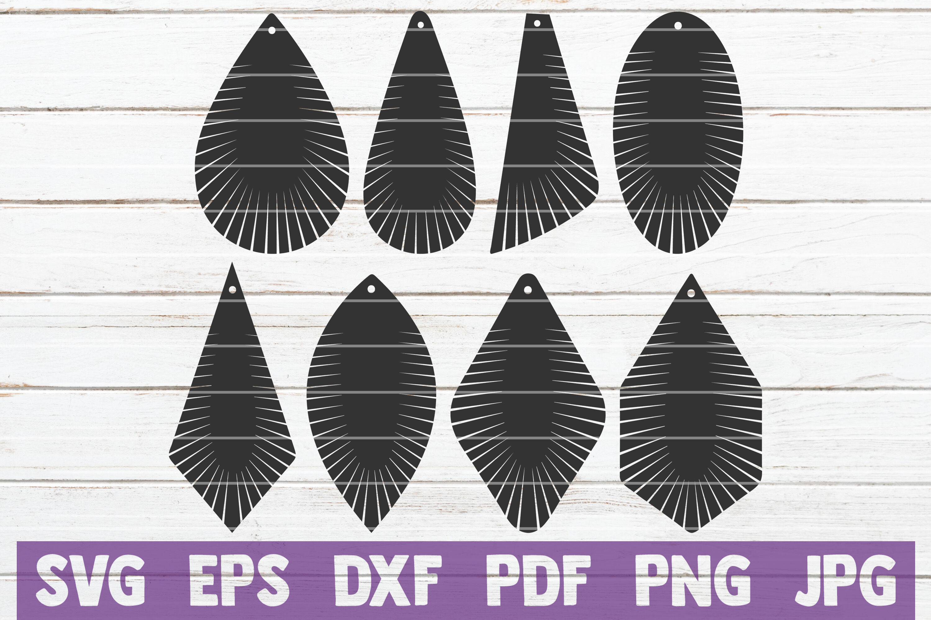 Fringe Earring Svg Cut File Templates By Mintymarshmallows