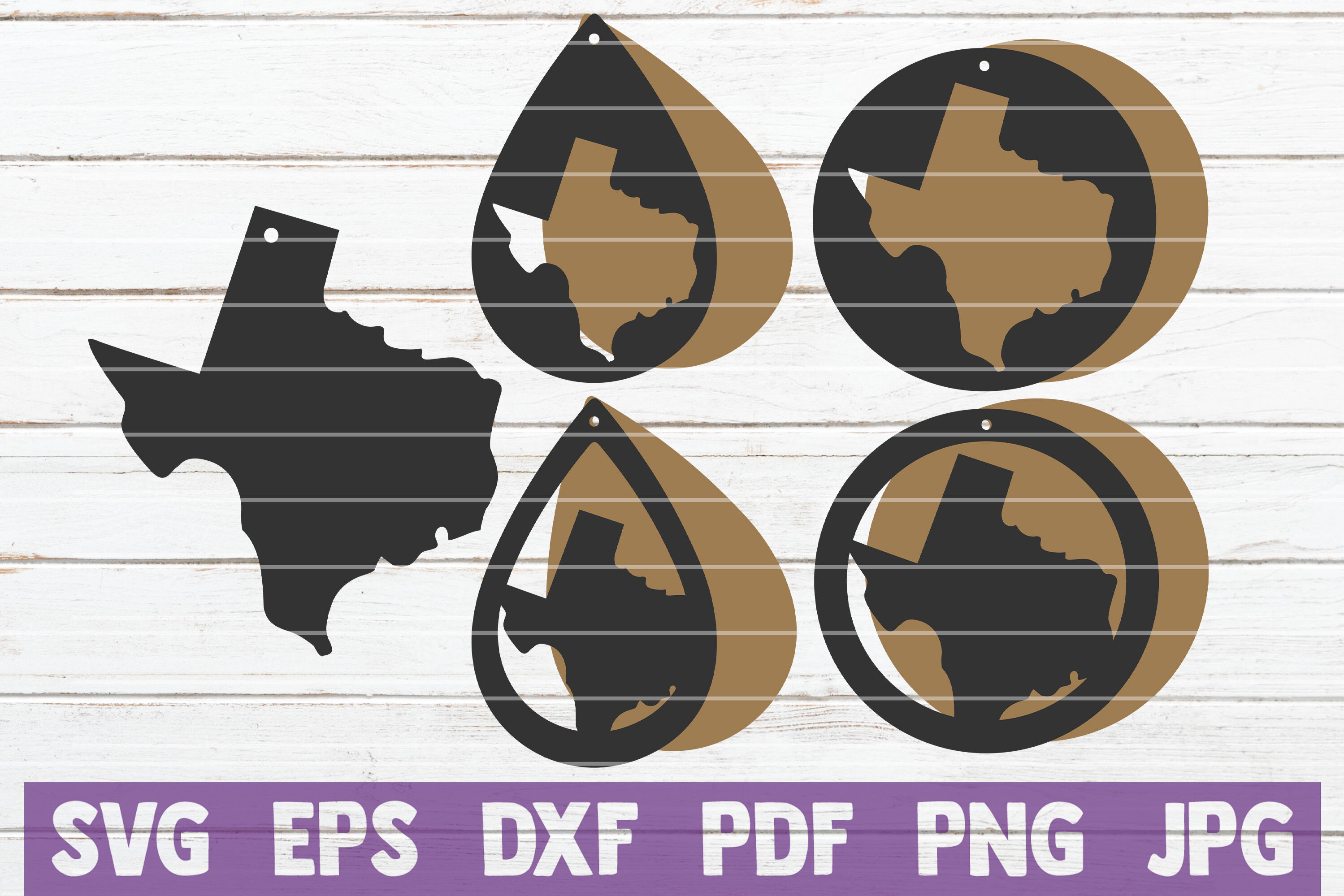 Texas Earrings Svg Cut File Templates By Mintymarshmallows