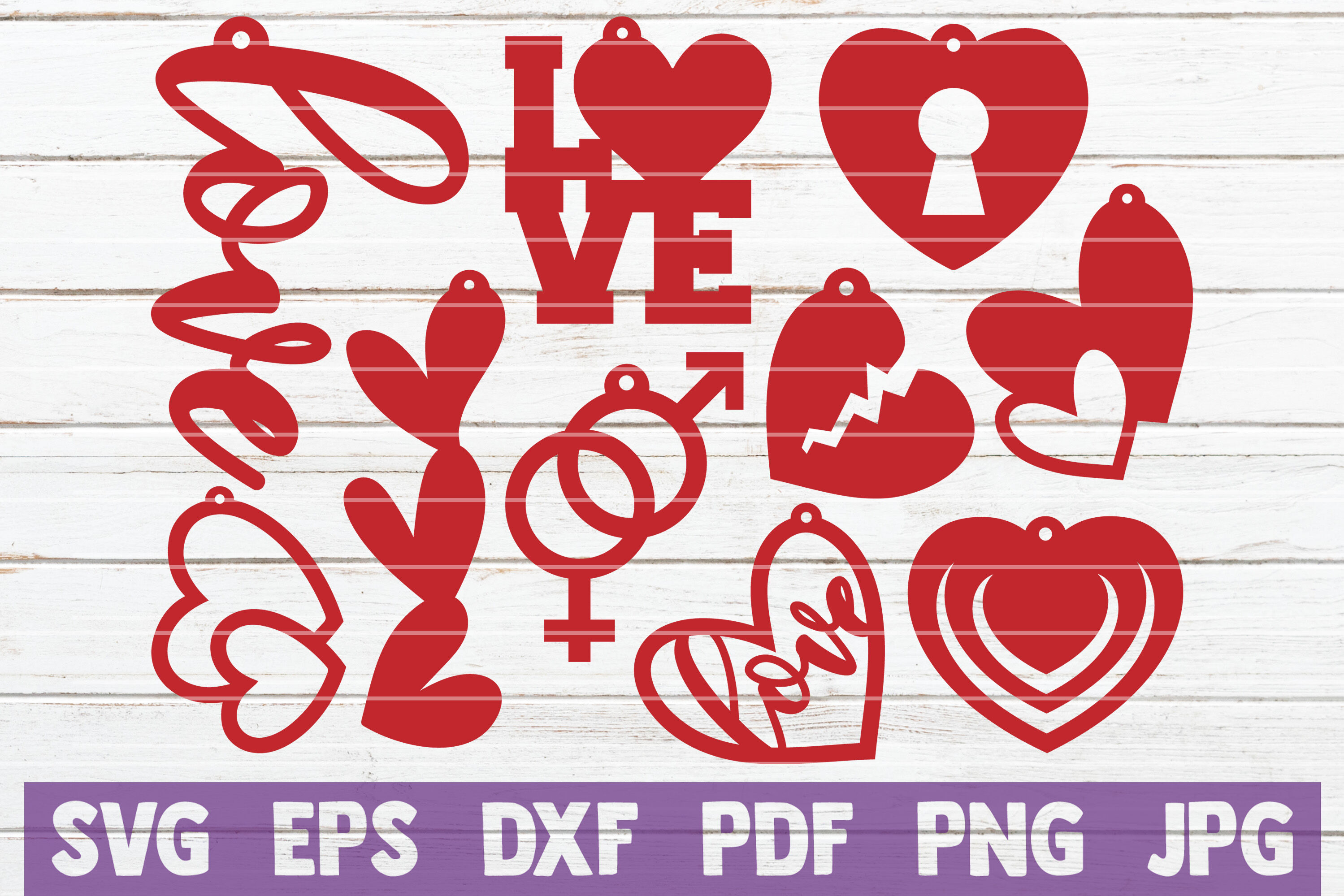 Valentines Earrings Svg Cut File Templates By Mintymarshmallows
