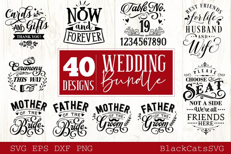 Wedding Bundle Svg Vol 1 40 Designs By Blackcatssvg
