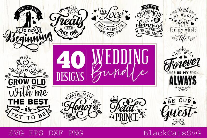 Wedding Bundle Svg Vol 2 40 Designs By Blackcatssvg