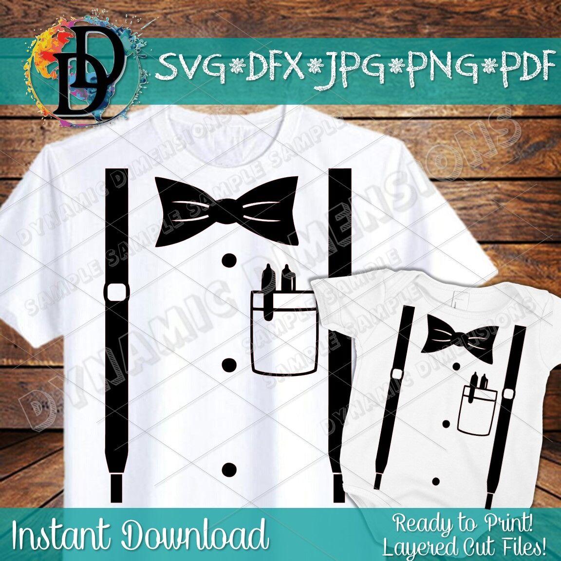 Suspenders Svg Shirt Pocket Svg Onesie Svg Baby Svg Tux Svg