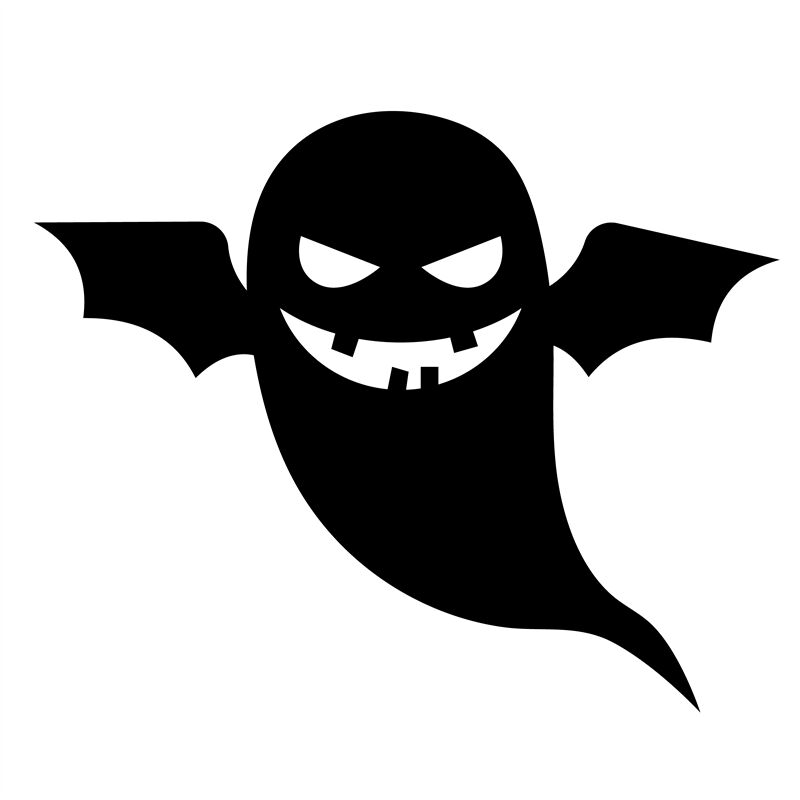 Scary Ghost Vector Halloween Silhouette By