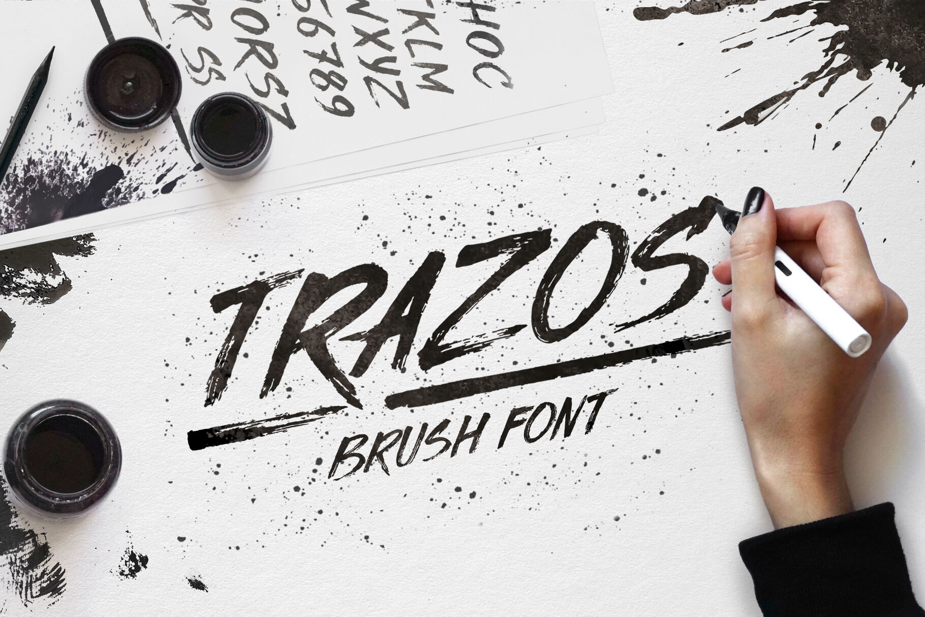 Trazos By Tinyqueendesign Thehungryjpeg Com