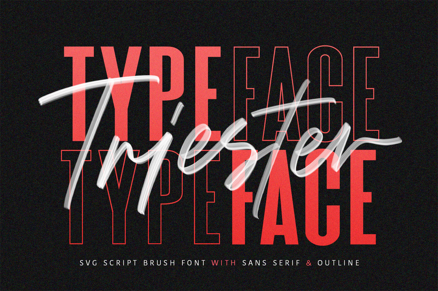 Triester Svg Brush Font Free Sans By Maulana Creative