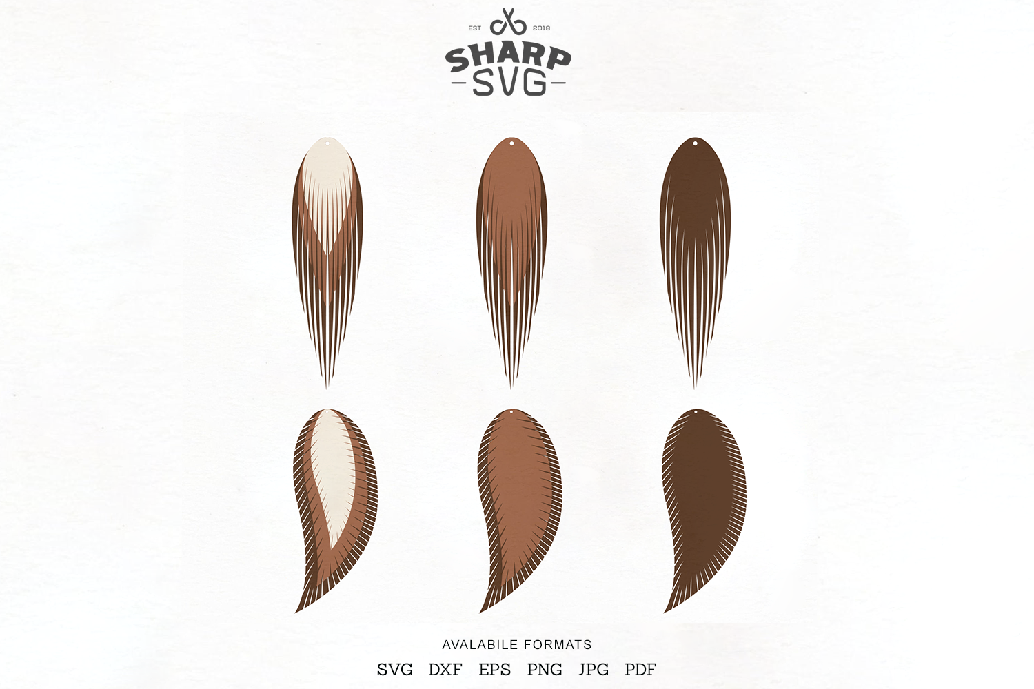 Feather Earring Svg Stacked Leather Earrings Svg By Sharpsvg
