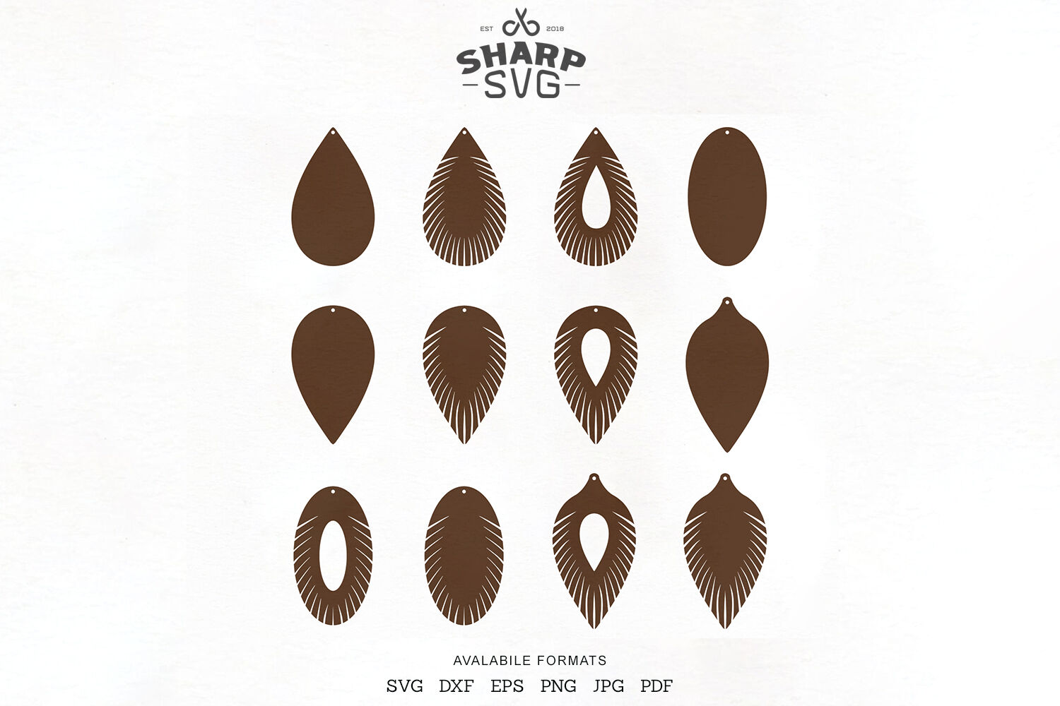 Fringe Leather Earrings Svg Earrings Cutting Template By