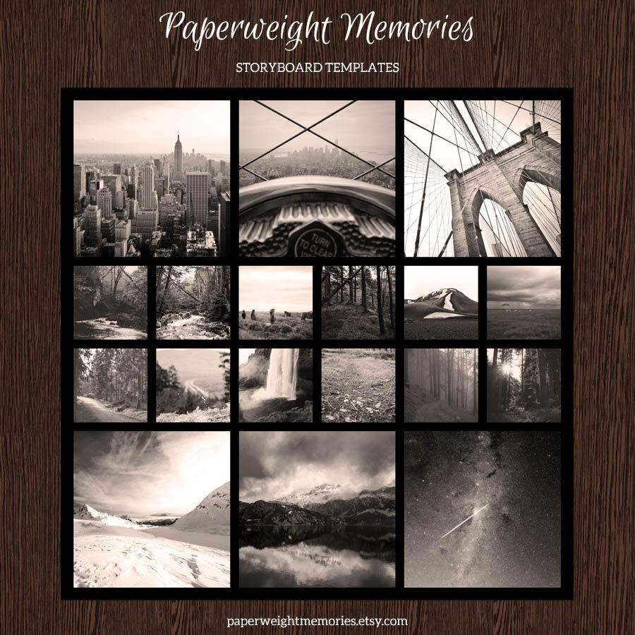 4 20x20 Storyboard Collage Templates By Paperweight Memories