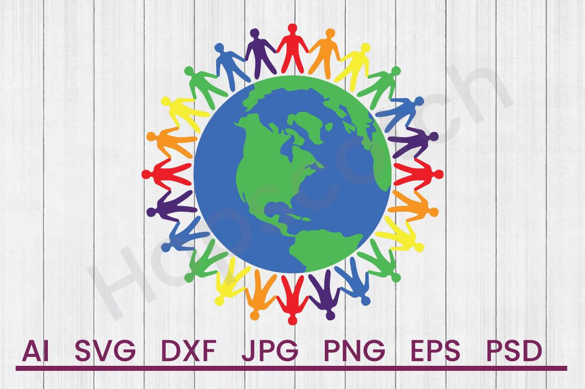One Love World Svg File Dxf File By Hopscotch Designs