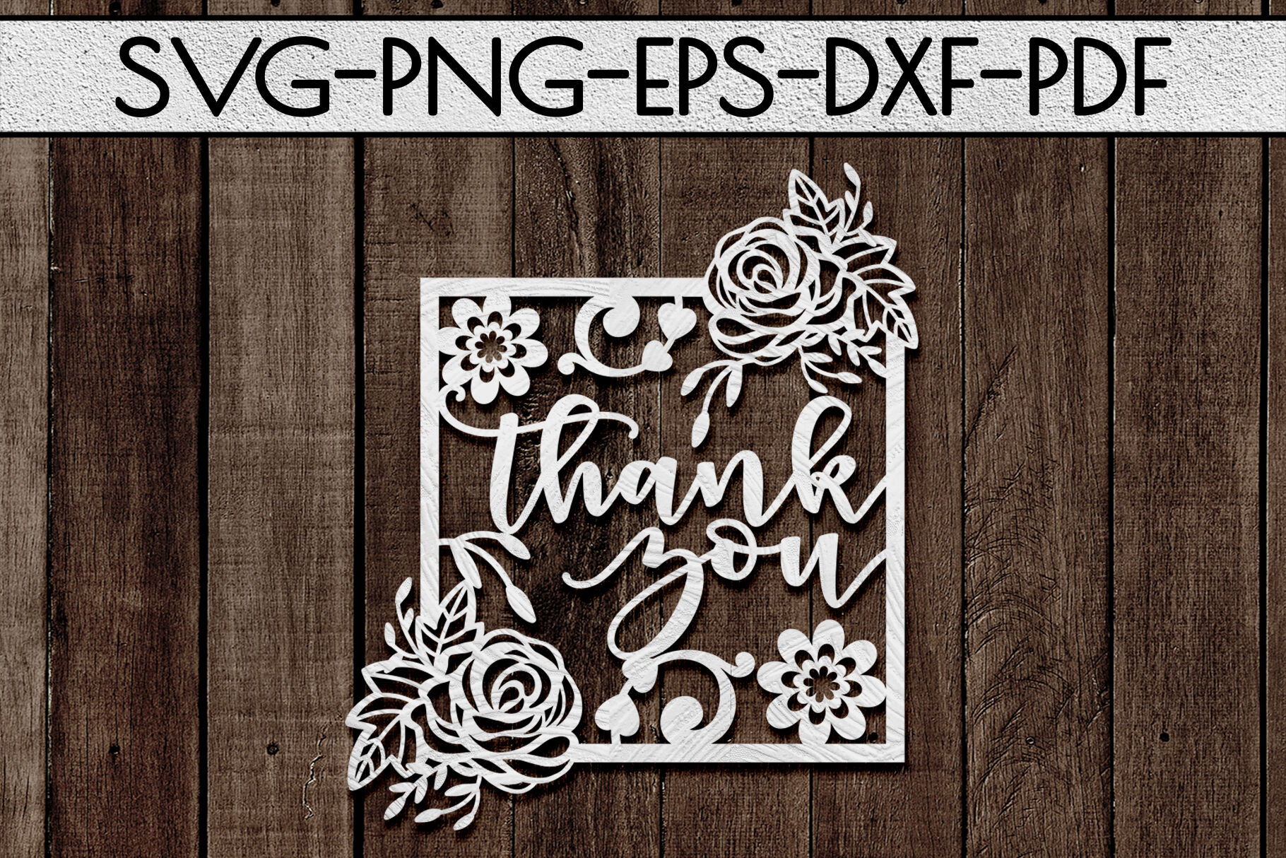 Thank You 5 Papercut Template Appreciation Frame Svg Pdf By