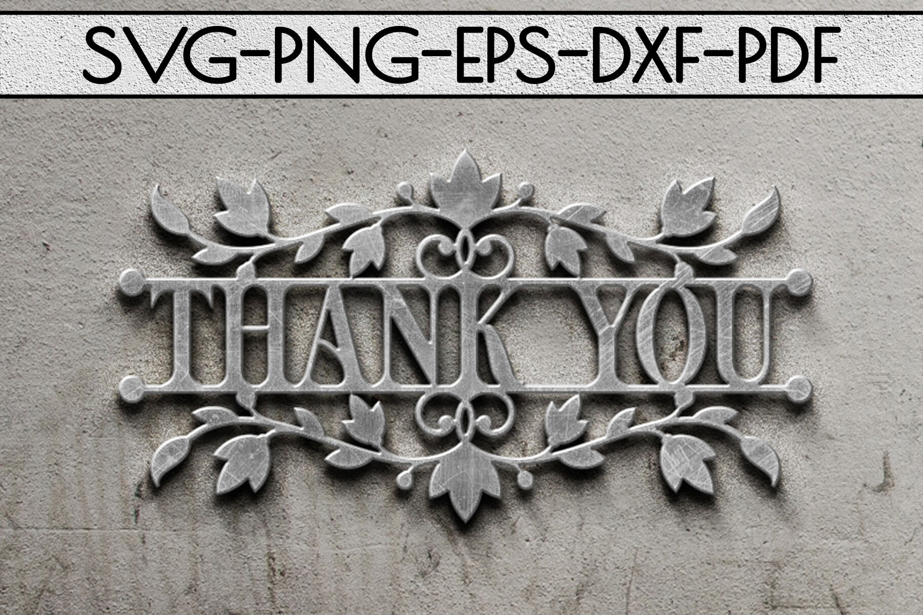 Thank You Papercut Templates Bundle Laser Vector Svg Pdf By