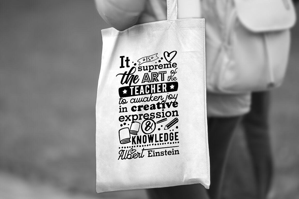 Art of the teacher - Einstein's Quote By CraftArtShop