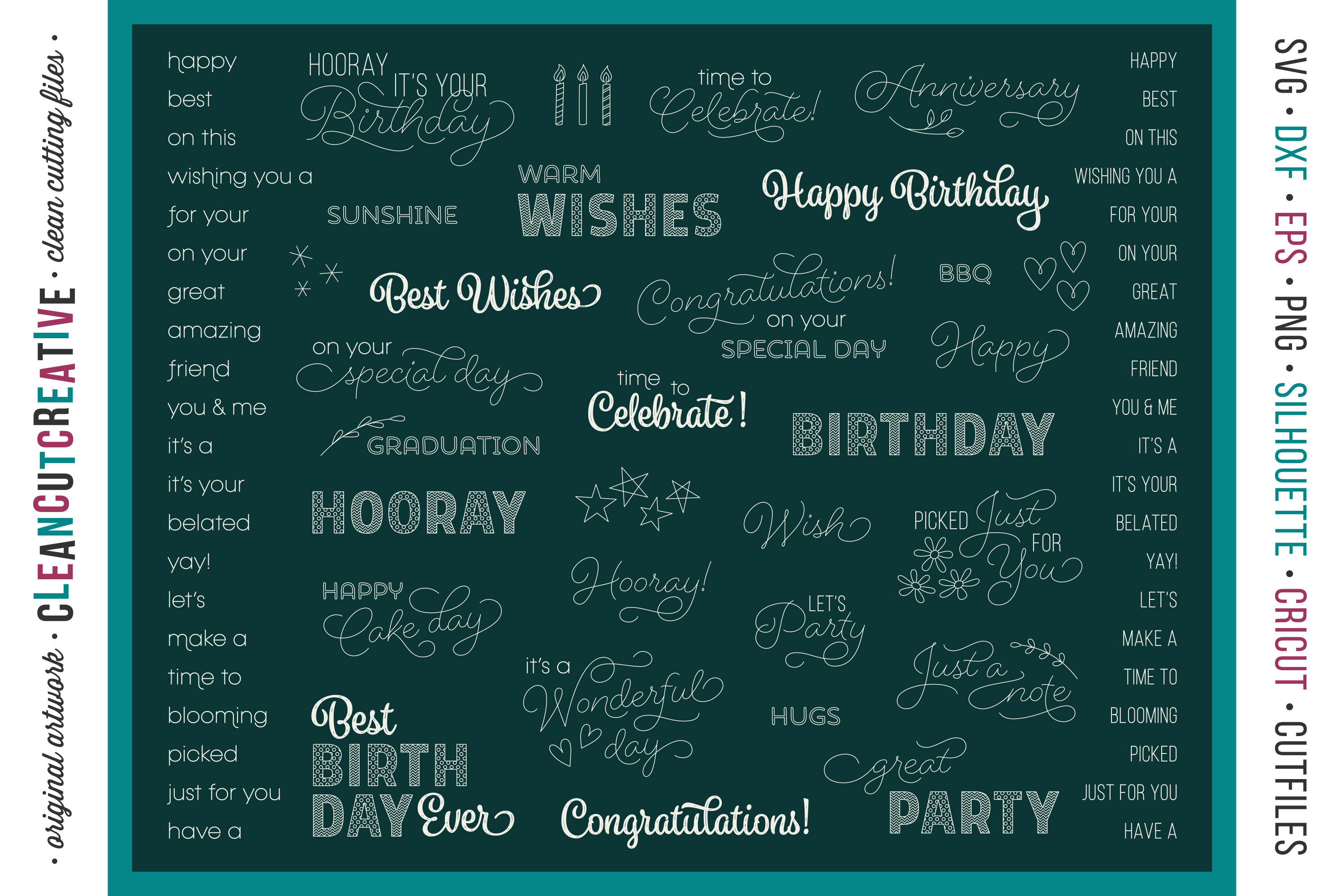 Foil Quill Mix Amp Amp Match Sentiments Bundle Single Line Svg
