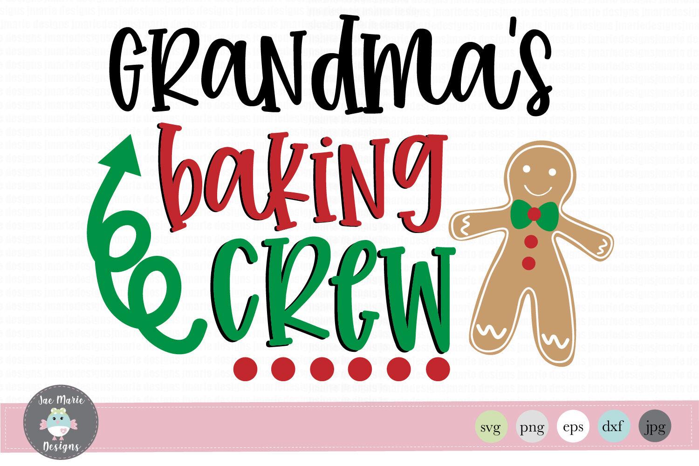 Christmas Svg Grandmas Baking Crew Svg Christmas Clipart By Jae