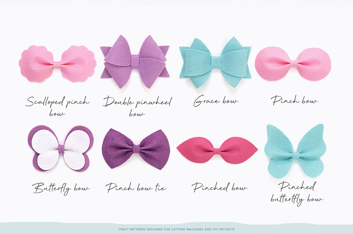 Essential Bow Template Bundle Svg Dxf Eps Jpeg Pdf By