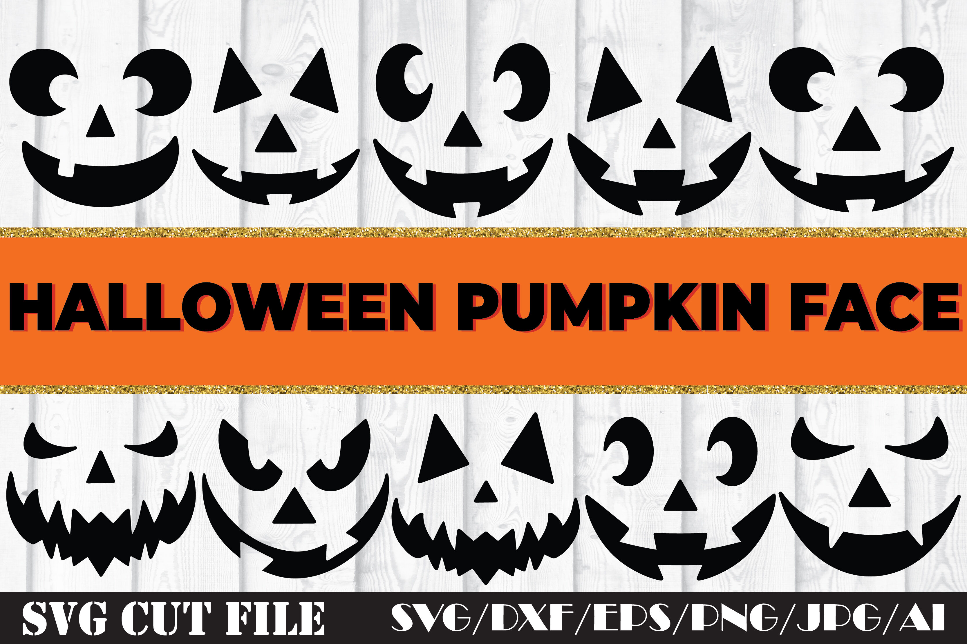 Halloween Pumpkin Face Svg Cut File By Svgsupply Thehungryjpeg Com