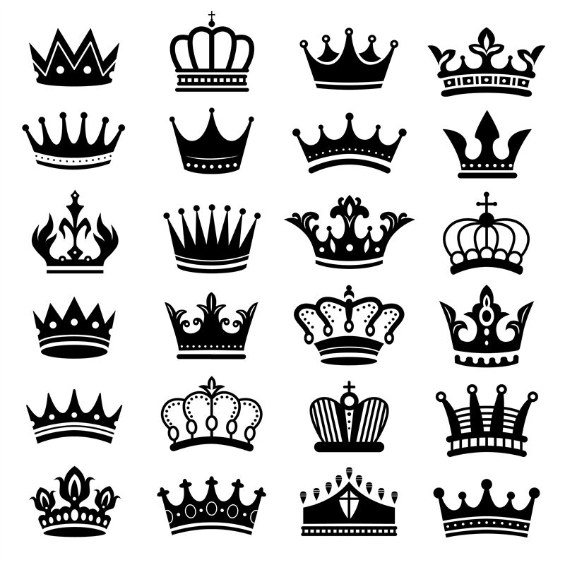 Royal Crown Silhouette King Crowns Majestic Coronet And Luxury