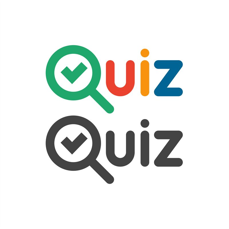 Quiz Game Show Logo Quizzes And Test Competition Icon With Tick