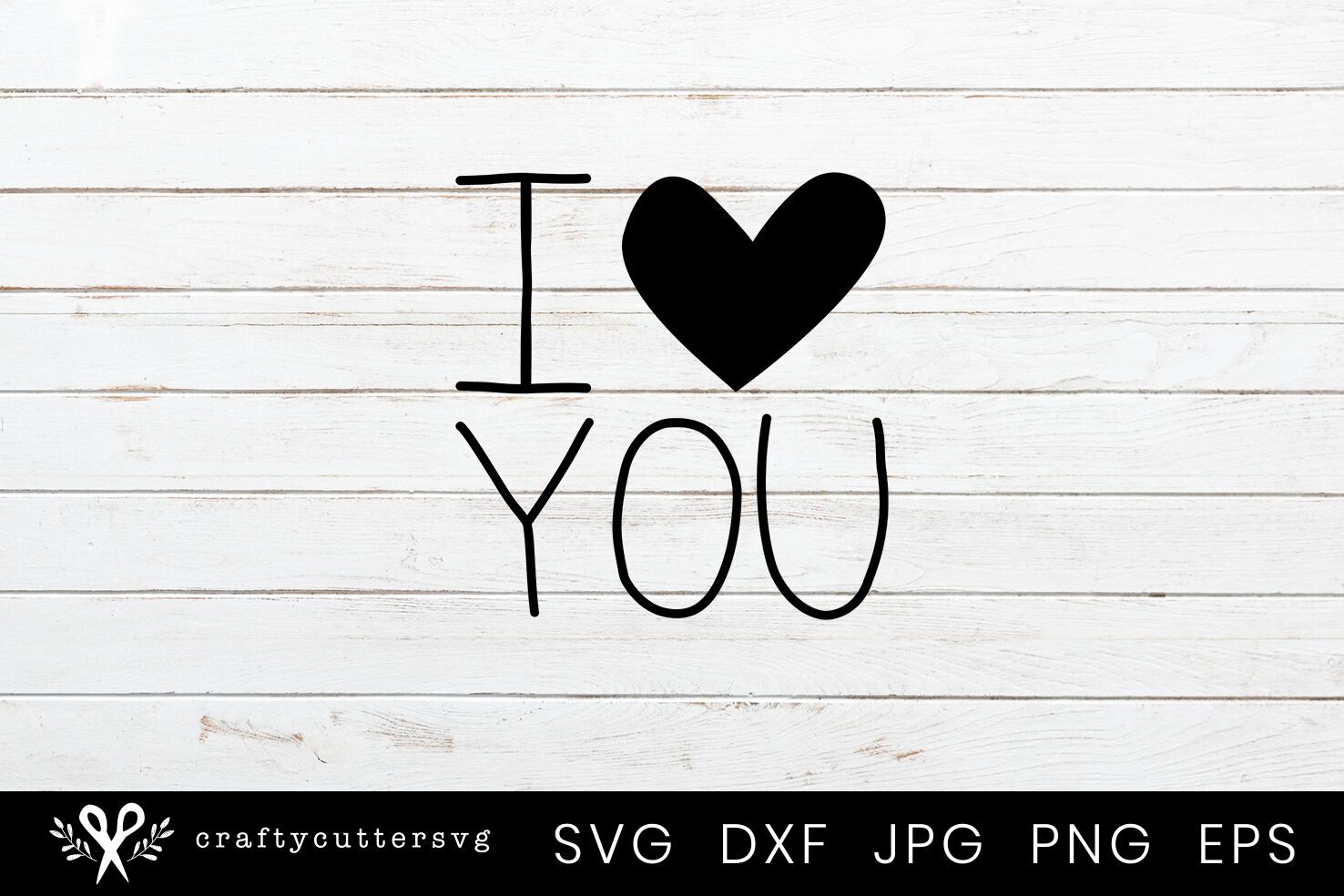 I Love You Heart Svg Cut File For Valentine S Day By Crafty Cutter