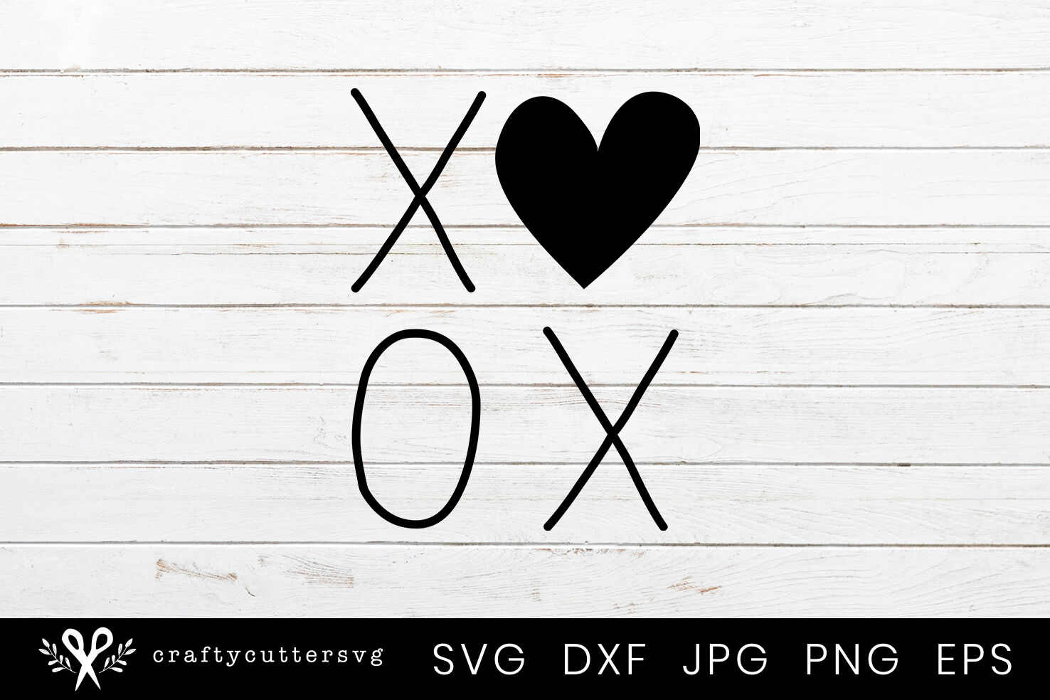 Xoxo Valentine Heart Svg Design By Crafty Cutter Svg