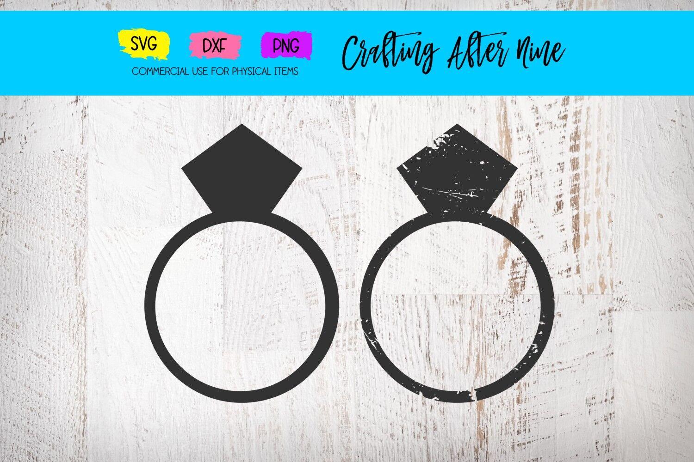 Distressed Ring Svg Ring Bundle Svg Grunge Ring Svg Diamond