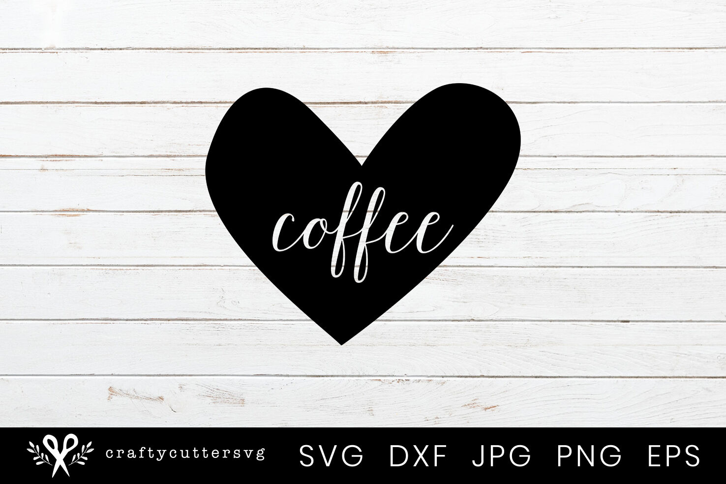 Coffee Love Heart Svg Cutting File For Cricut And Silhouette By