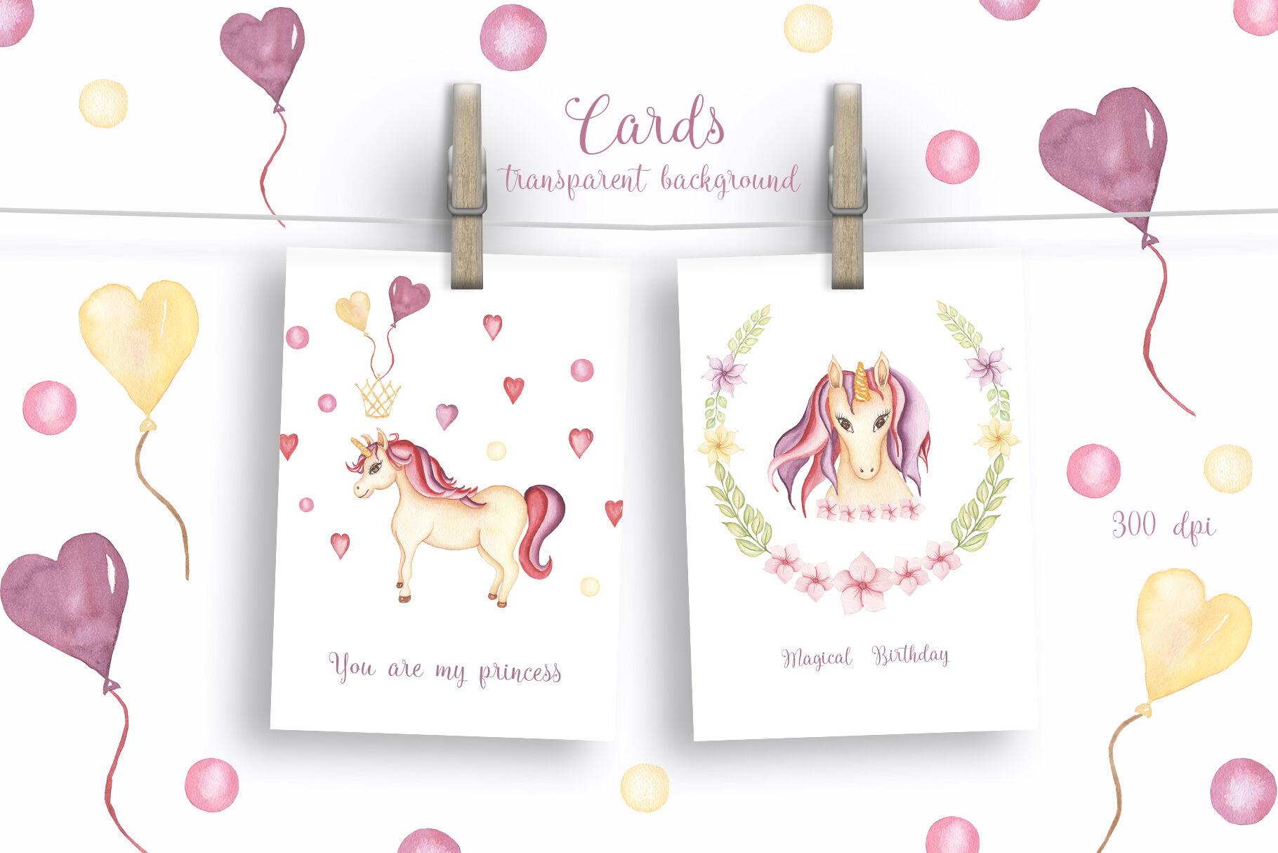 Watercolor Unicorn Magic Garden By Maya Navits Thehungryjpeg Com