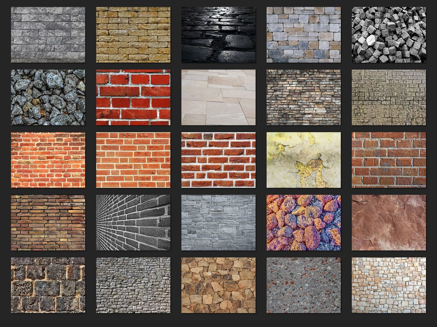 200 High Quality Stone Rock Wall Digital Photoshop Overlays By