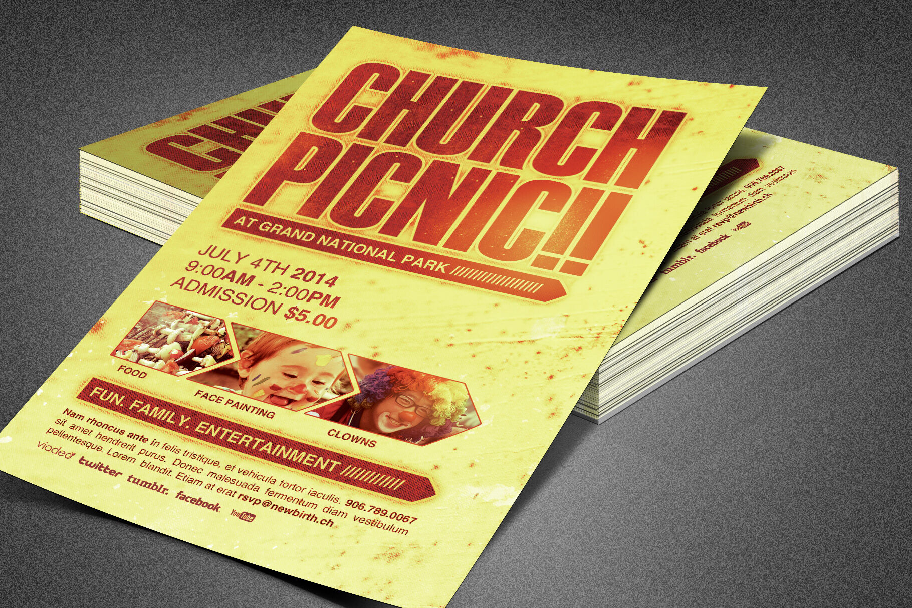 church picnic flyer template by creativedesigns