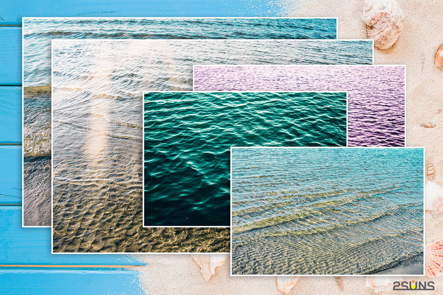 Summer textures photoshop sea water sand digital paper By 2SUNS