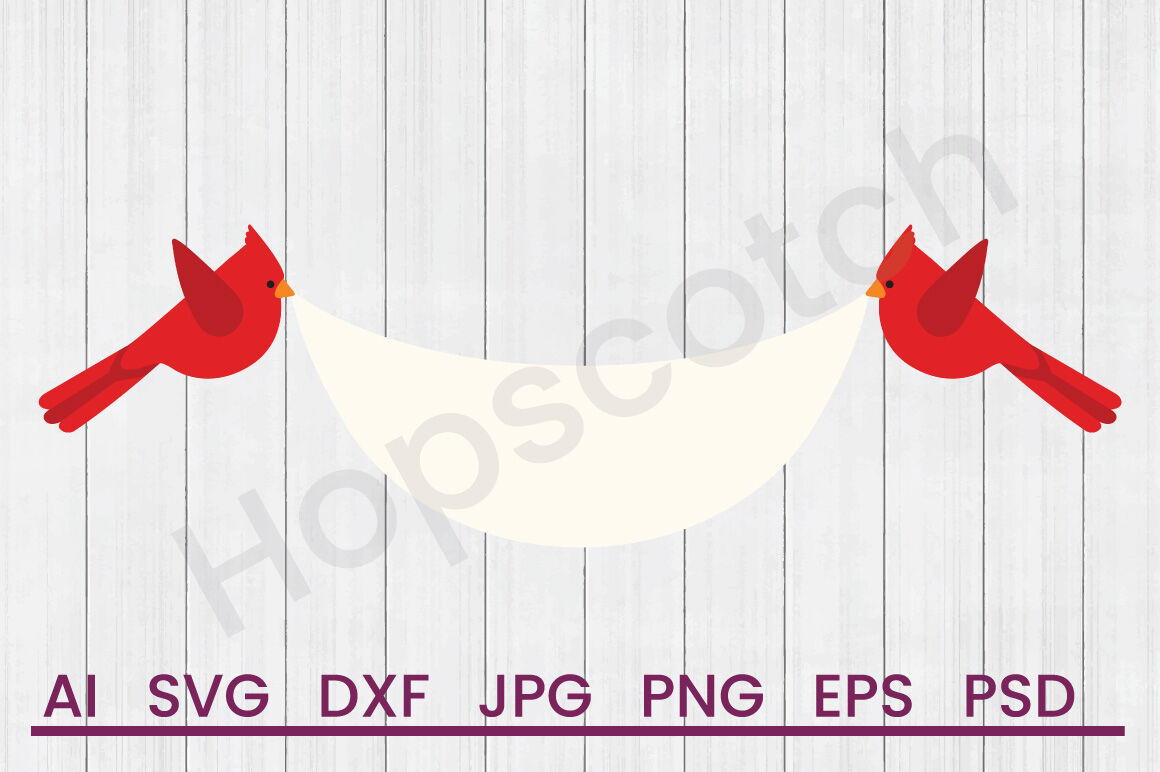 Cardinal Banner Svg File Dxf File By Hopscotch Designs