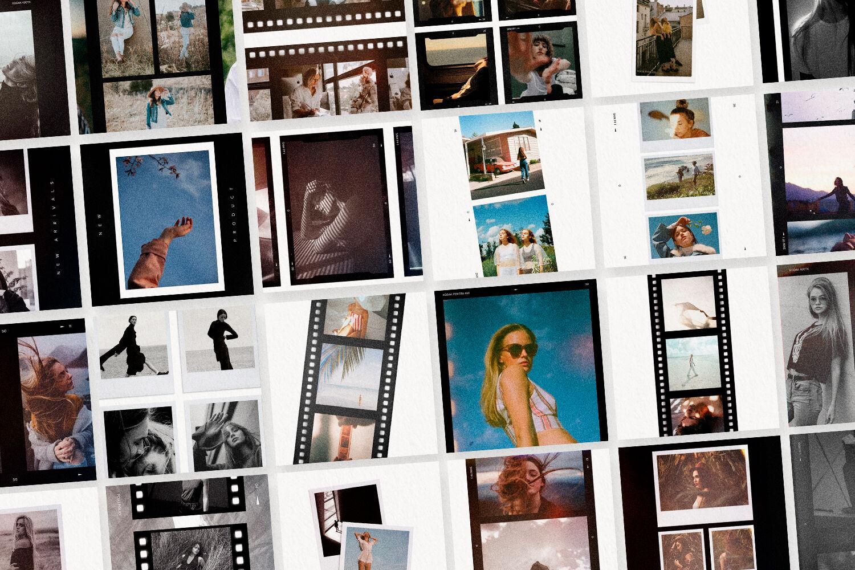 Film Frames Polaroid Instagram Templates Social Media Template