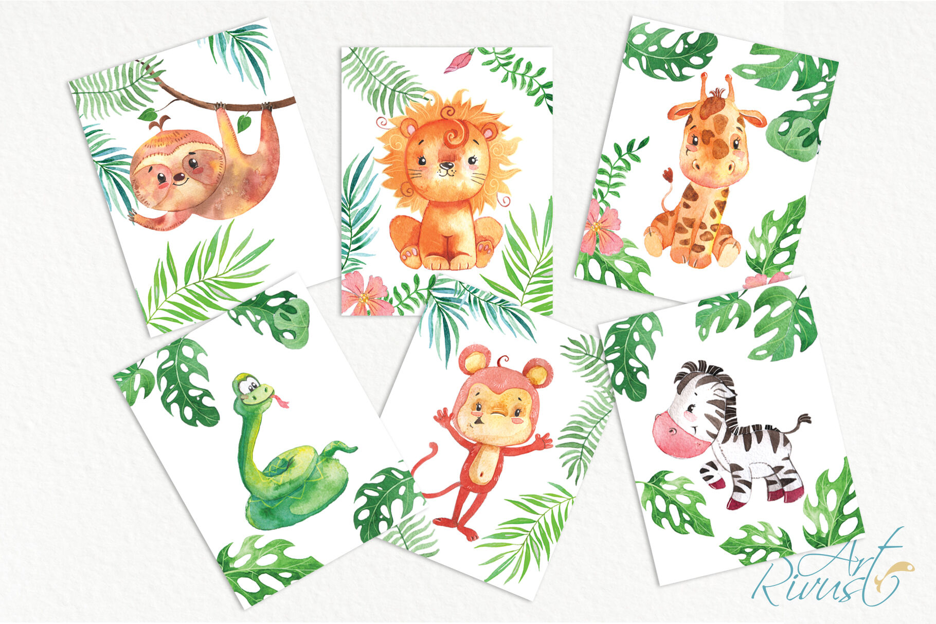 image regarding Printable Safari Animals titled Printable Nursery Artwork Safari Pets. Adorable African wild