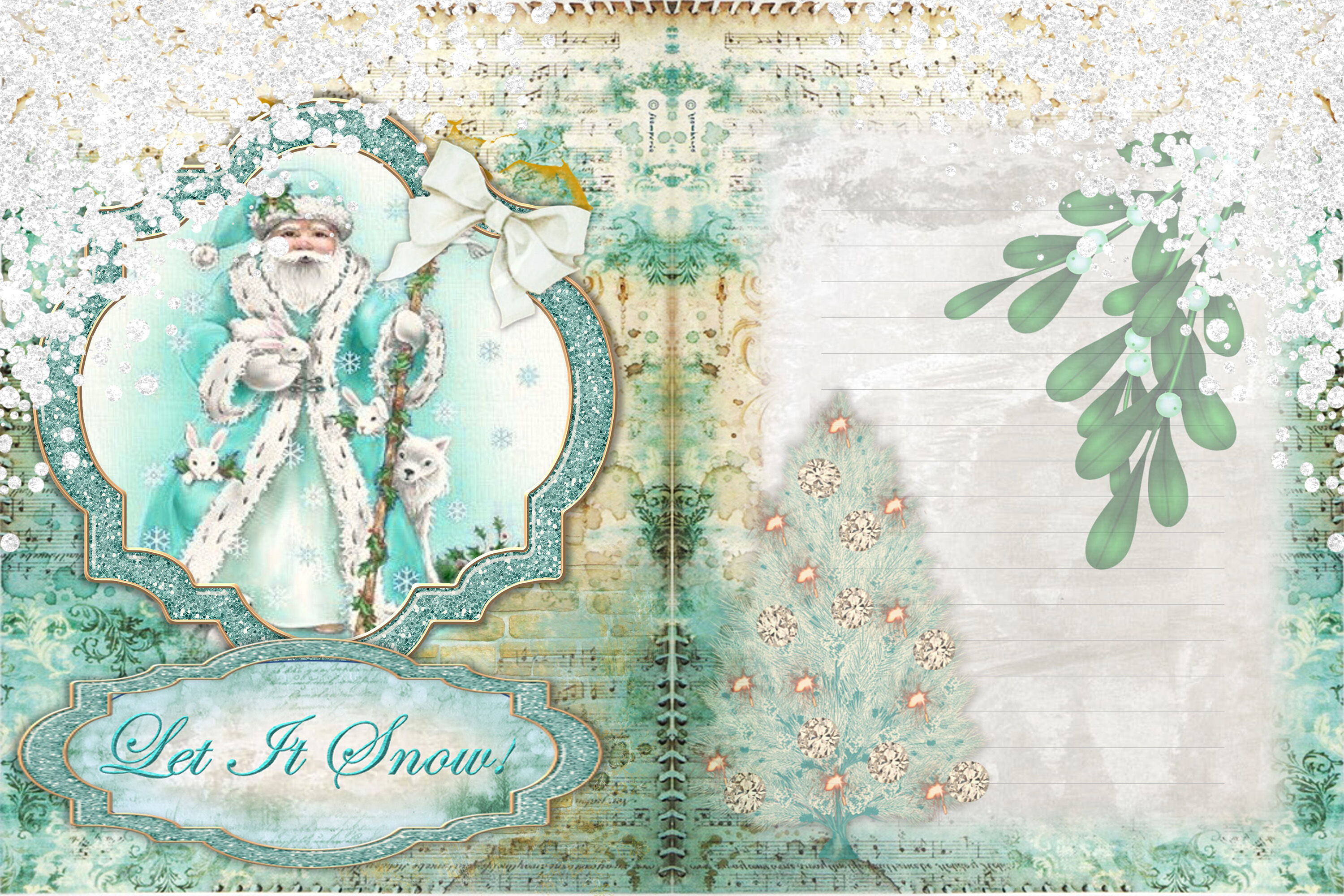 Christmas Printable Journaling Pages With Free Ephemera