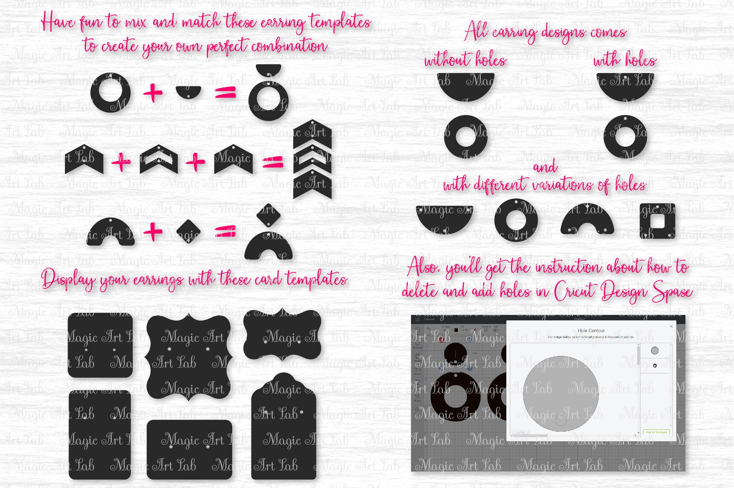 Earrings Svg Geometric Earrings Svg Earrings Bundle Svg By
