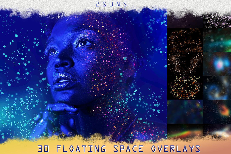 Download Photo Overlays Space Floating Bokeh Christmas Wedding