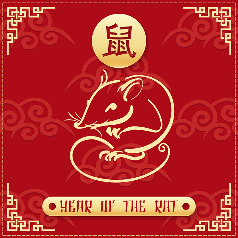 Year of the Rat 2020 Emblem By Olena1983 | TheHungryJPEG.com