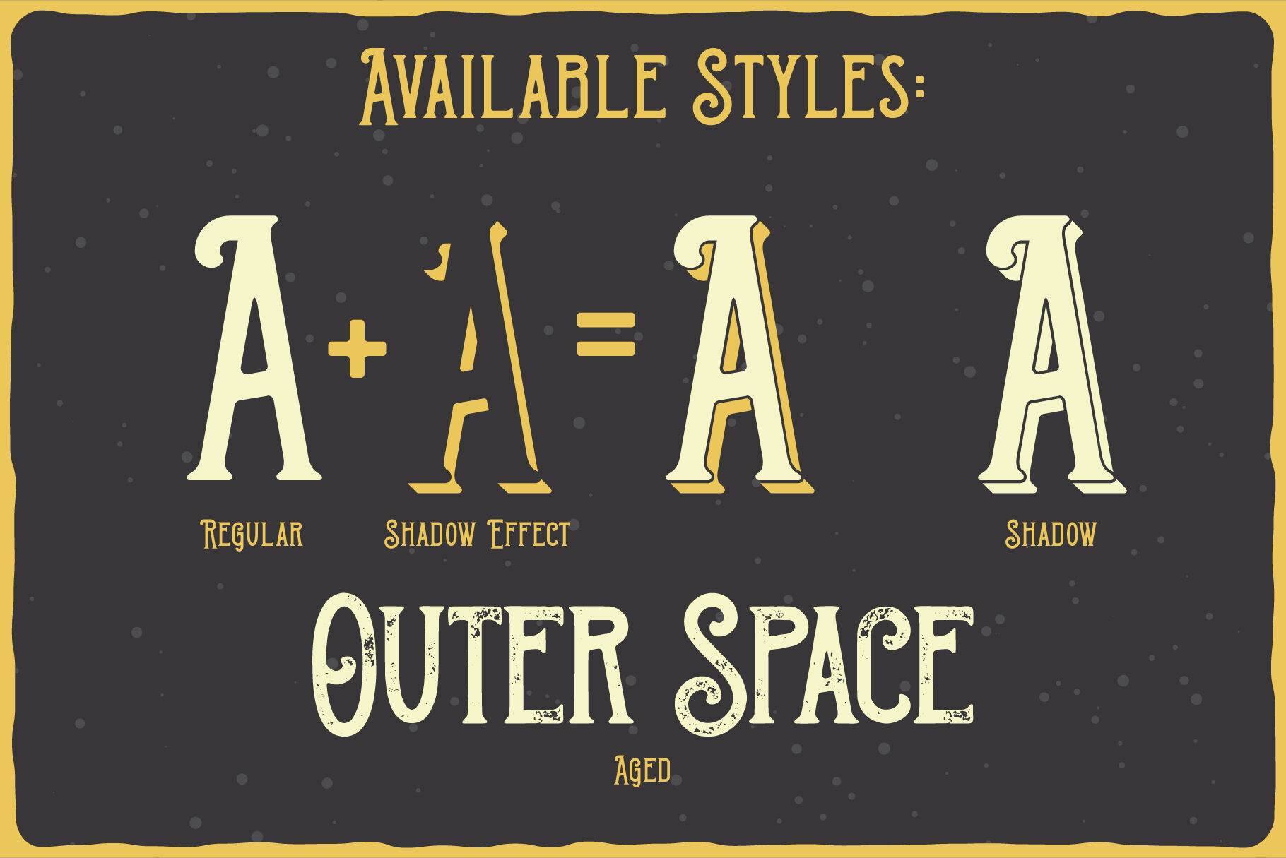 Outer Space Font Bonus By Vozzy Vintage Fonts And Graphics