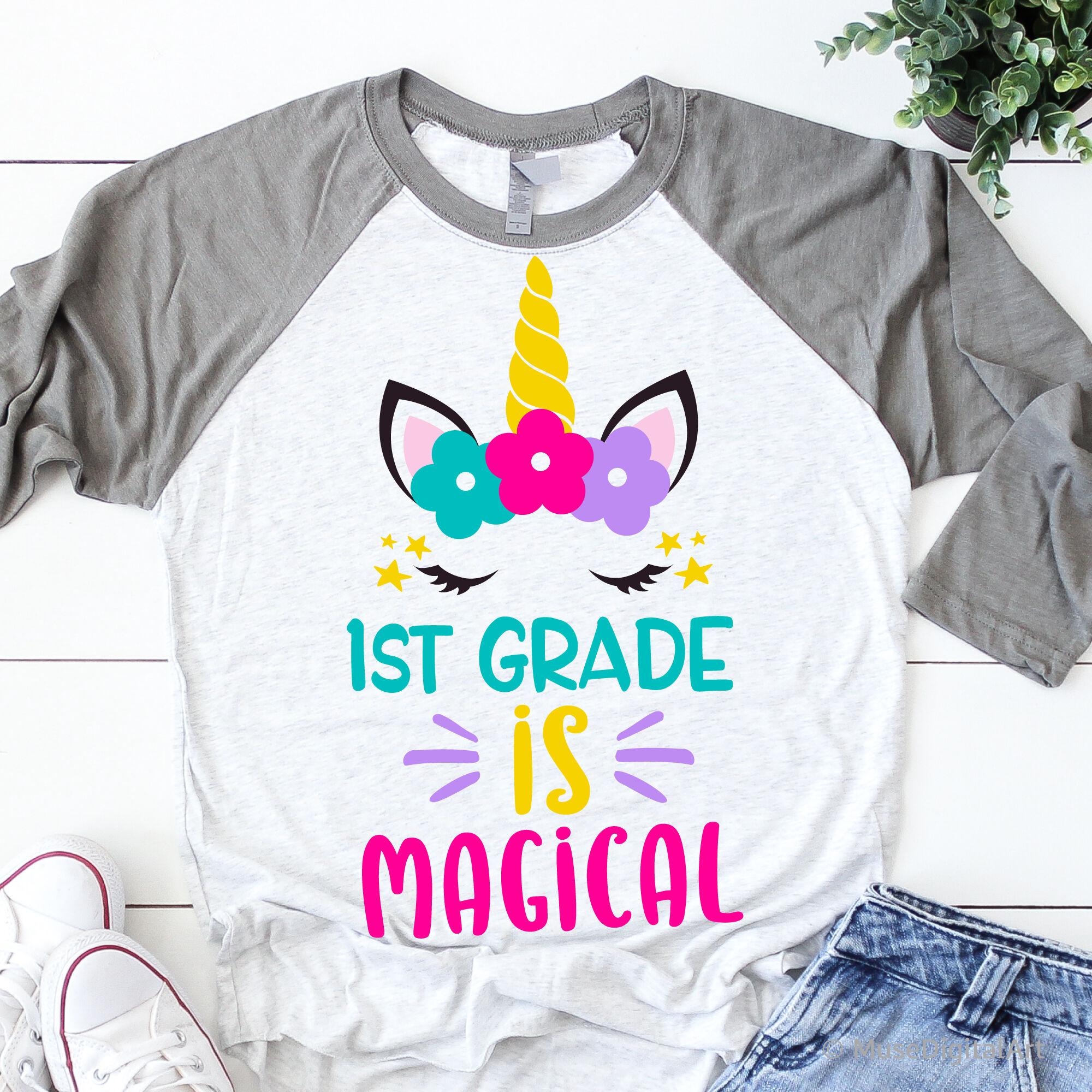 1st Grade Is Magical Svg Girl First Grade Svg Unicorn Svg Back