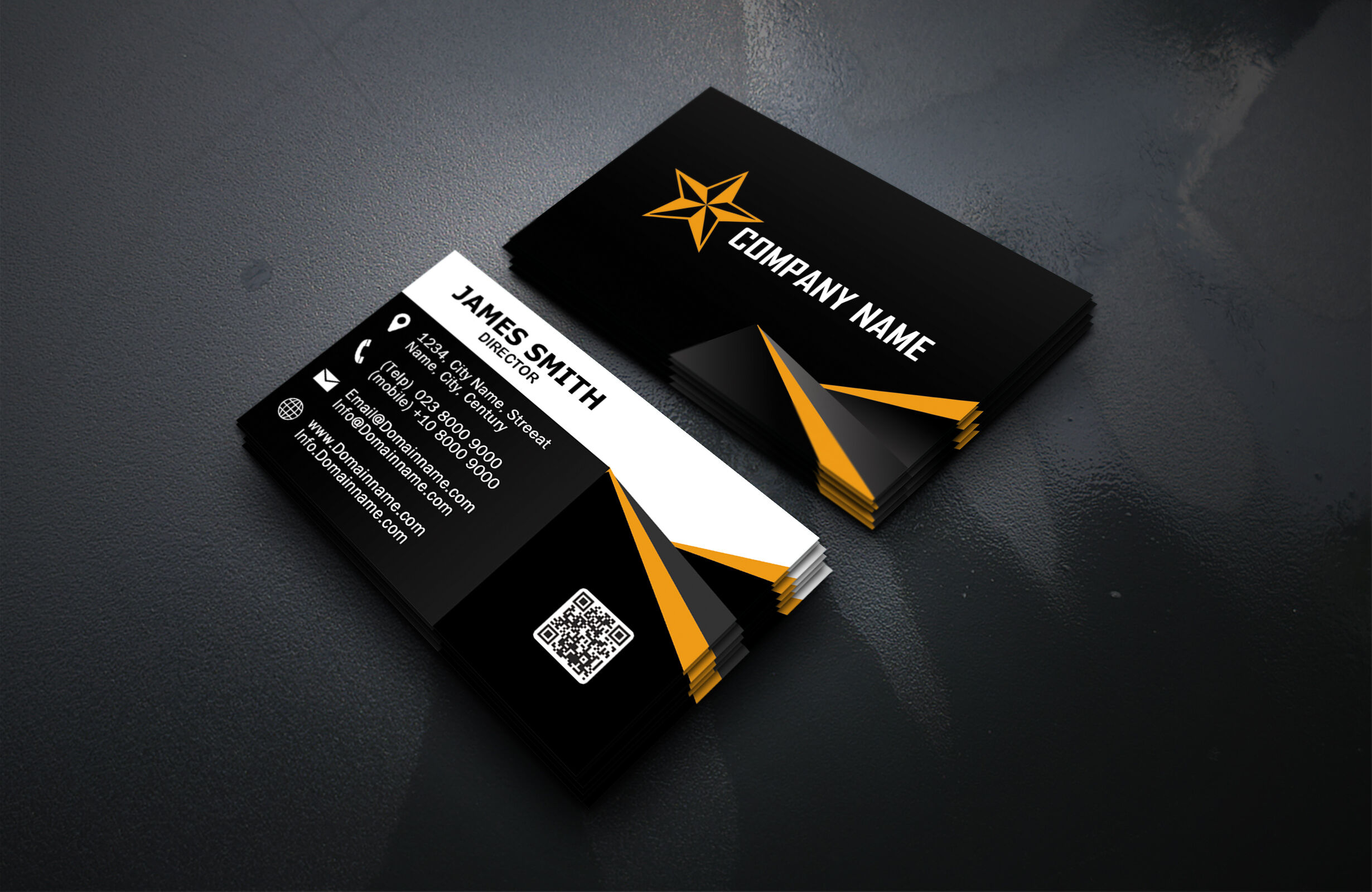 modern business cardspolah design  thehungryjpeg