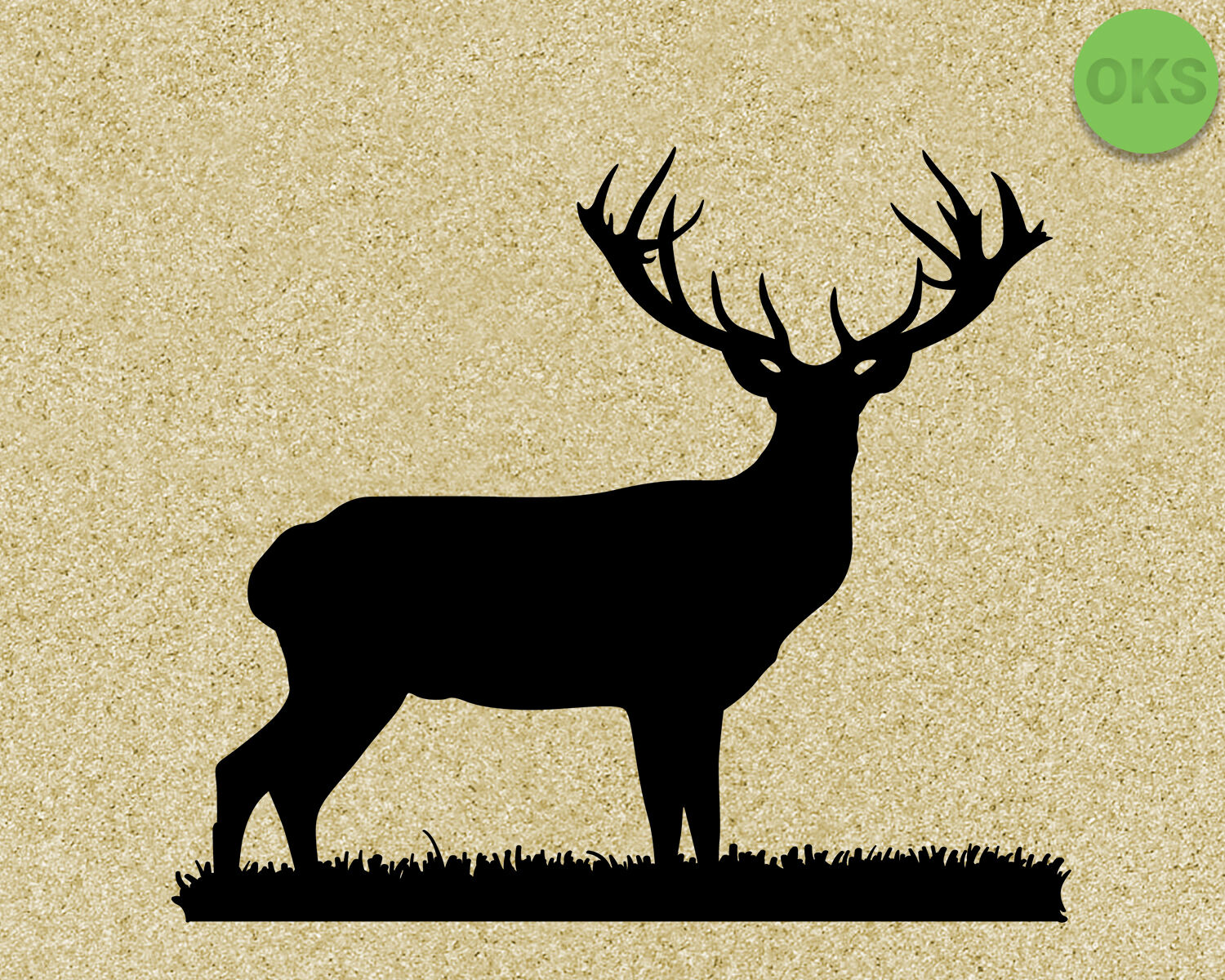 Stag Antlers Svg Cut Files Dxf Vector Eps Cutting File By Crafteroks