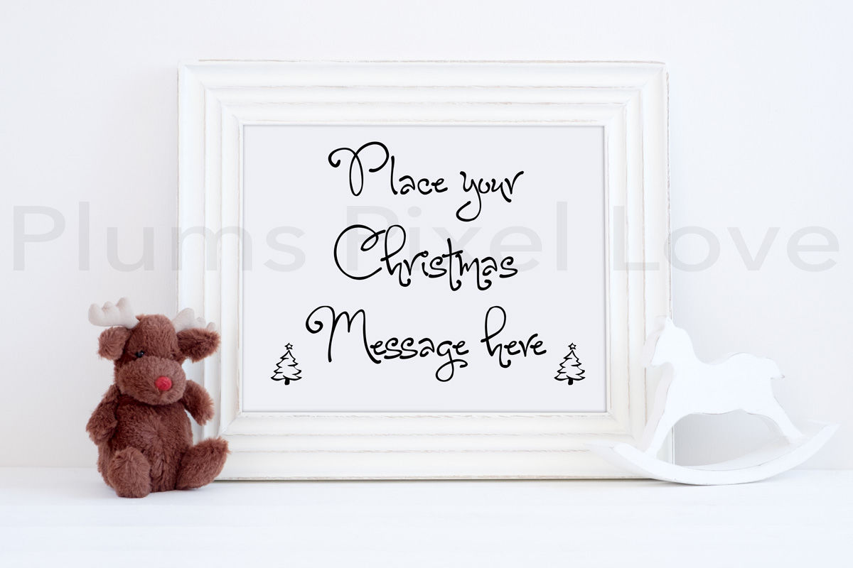 2 Christmas Styled Frame Mockups By Plums Pixel Love