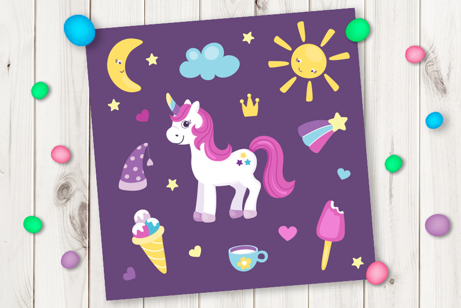 Cartoon Cute Unicorn By Nesterova S Shop Thehungryjpeg Com