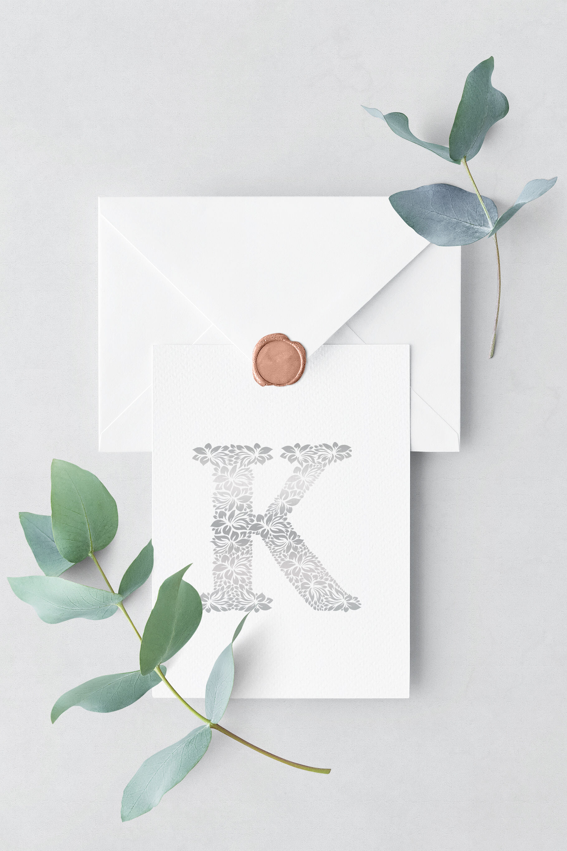 Letter K Floral Logo Template By Textures Overlays Store